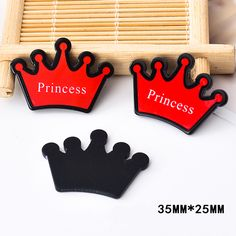 50pcs 35*25MM Princess Crown Resin Flatback For Hair Bow Kawaii Planar Resin DIY Craft for Home Decoration Accessories DL-624