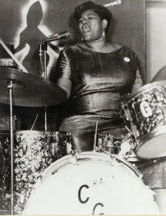 Big Mama Thornton on drums...bang the drum slowly now and the force is with you.