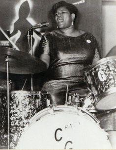 Big Mama Thornton on drums a True Music Legend