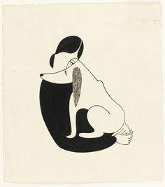 Кристина Malman, женщина и собака, 1935