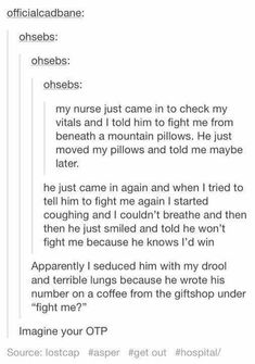 Fight me / Imagine your otp -- p.s: this actually screams my otp, and I'm sure that I've read this as an AU My Tumblr, Tumblr Posts, Tumblr Funny, Funny Memes, Hilarious, Funny Videos, Writing Help, Writing A Book, Writing Tips