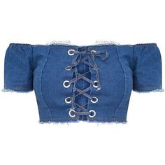 Denim crop top make your shine everywhere Denim Crop Top, Blue Denim Shirt, Blue Crop Tops, Crop Shirt, Denim Shirts, Cropped Tops, Corset Shirt, Denim Corset, Blue Corset
