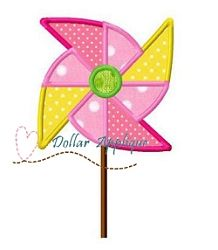 Pinwheel Applique - 3 Sizes! | What's New | Machine Embroidery Designs | SWAKembroidery.com Dollar Applique