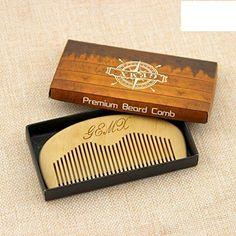 Wooden Beard Comb Natural Wood Pocket Male Beard Grooming Anti-static Gift | eBay