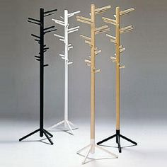 Anna-Maija Jaatinen Clothes Tree 160  Birch. Metal foot black or white lacquered. made by Artek