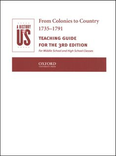 From Colonies to Country Teacher Guide (Vol. 3)
