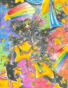 Rainbow Stars by ~Leah-Sama on deviantART