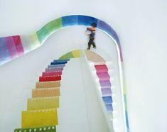 kids stairs - a rainbow world!