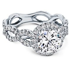 Engagement Ring - Halo Infinity Pave Engagement ring