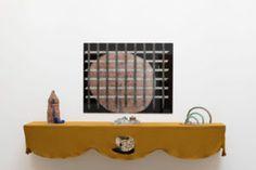 Aaron Angell, <i>Bottle Kiln – Receiver; Peach – Portcullis; Molybdenum Bell Courtyards and Dalmatian Spoon & Three Torcs,</i> all 2015 ©Aaron Angell. Installation view: British Art Show 8, Leeds Art Gallery, 2015-17. Photo ©Jonte Wilde Photography 2015
