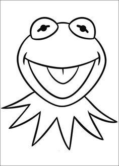 Ausmalbild Muppets - kermit