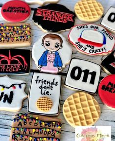 Things party Stranger things cookies oh my gosh look great Stranger things cookies oh my gosh look great Stranger Things Theme, Stranger Things Halloween, Stranger Things Aesthetic, Stranger Things Funny, Stranger Things Season, Stranger Things Netflix, Stranger Things Pumpkin, Eleven Stranger Things Costume, 11th Birthday