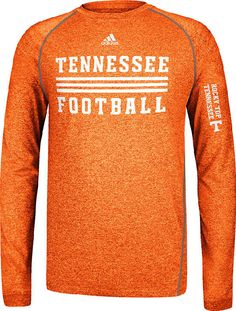 Tennessee Volunteers Sidelines Evade Heather Orange Climalite Long Sleeve Shirt by Adidas $36.95