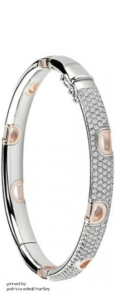 Damiani White Gold & Rose Gold and Diamond Bracelet