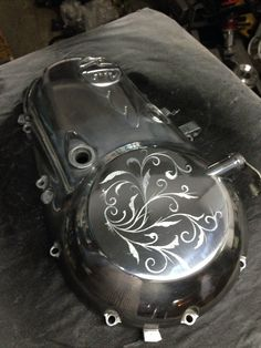 Hand carved royal enfield engine case