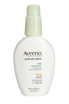 The Brightening Moisturizer:Brighten skin with this SPF 15 daily moisturizer. Perfect for dry, flakey skin that needs a boost of radiance.            Aveeno Positively Radiant Moisturizer; $13.59; amazon.com