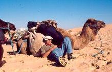 Hanging out with Hogar, Douz, Tunisia  ©Steve Gillick