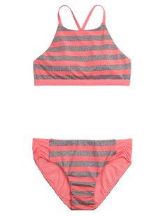 Maaji Kids Tangerine Turtoise Bikini (Toddler/Little Kids/Big Kids) Girl's Swimwear Sets Multicolor Bikinis, Swimsuits, Swimwear, Katie Lee, Swim Shop, Striped Bikini, Bikini Photos, Girl Outfits, Bikini Swimsuit