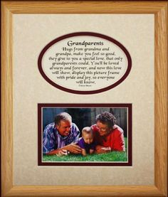 8x10 GRANDPARENTS Picture  Poetry Photo Gift Frame  CreamBurgundy Mat  Heartfelt Keepsake Picture Frame for Grandparents from Grandchild or Grandkids  Gift Idea for Grandparents Day Birthday or Christmas * Visit the image link more details.