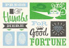 Good fortune poster. via estadiezijn
