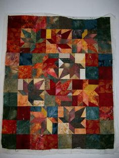 A beautiful fall leaves small quilt...