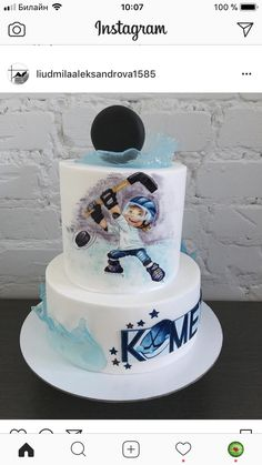 Cake Cookies, Cupcakes, Hockey Cakes, Hockey Party, Sport Cakes, Ball Decorations, Cakes For Boys, Girl Cakes, Cake Designs