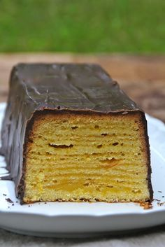 Baumkuchen German layer cake  Reminds me of the tortes from Swiss Colony in Newtown, CT I ate as a young girl.