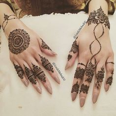 so intricate  // by @leedsmehndi . #henna #mehndi #hennadesign