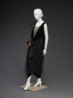 oldrags:  Evening dress, 1920's Europe, Indianapolis Museum of Art