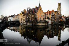 Good morning from Brugge by gundogdugurkan  architecture belgium birds brugge city colors d600 gurkan gundogdu light nikon reflections sunrise t