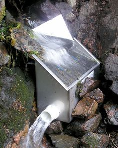 Microhydro intake. Join Our Facebook Group