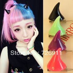 Aliexpress.com : Buy Fashion little demon of 76091 neon 666 ayumi ccbt side knotted clip hair accessory from Reliable hair jewelry suppliers on Jessie's shop. $16.68