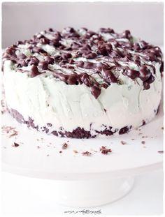 mint ice cream cake8 Chocolate Ice Cream Cake, Mint Chocolate, Mint Ice Cream, Cravings, Panna Cotta, Pudding, Baking, Ethnic Recipes, Sweet