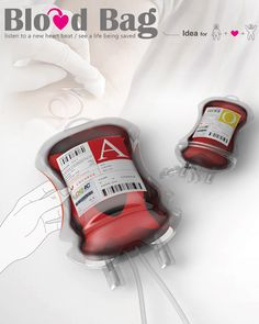 Blood Bag Packaging Design by Ni-Hsin Chang #healthcare