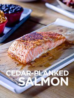 Washington Cedar Plank Salmon! #food #foodie #fish #salmon #dinner #lunch #washington