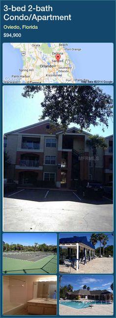 3-bed 2-bath Condo/Apartment in Oviedo, Florida ►$94,900 #PropertyForSaleFlorida http://florida-magic.com/properties/49758-condo-apartment-for-sale-in-oviedo-florida-with-3-bedroom-2-bathroom