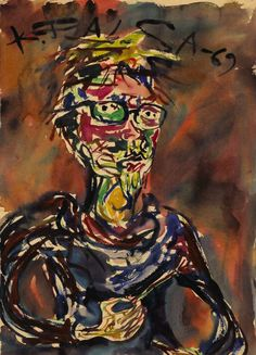 Kalervo Palsa, Self Portrait, 1969.   Finnish Art Gallery  A Finnish artist with a style that has been described as fantastic realism.
