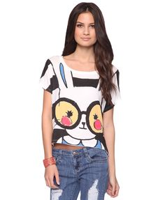 Cartoon Bunny Top