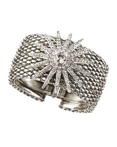 Silvertone Starburst Cuff by RODRIGO OTAZU at Last Call by Neiman Marcus.