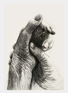 If only i could draw a hand like this!!!  Cave to Canvas, alecshao: Henry Moore - The Artist's Hands, 1974