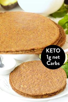 Vegan Keto Recipes, Vegan Foods, Low Carb Recipes, Whole Food Recipes, Cooking Recipes, Flour Recipes, Keto Tortillas, Vegan Wraps, Low Carb Keto