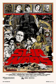 Mondo Star Wars Screen Print Series #20 - The Original Star Wars Trilogy Set by Tyler Stout - Star Wars