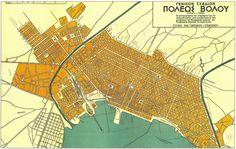 VOLOS CITY MAP ,GREECE