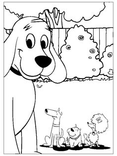 animations a 2 z - coloring pages of clifford the big red dog ... - Clifford Printable Coloring Pages