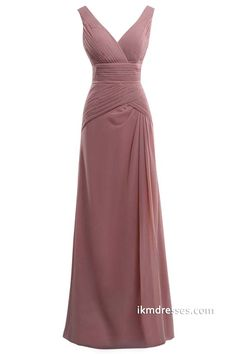 http://www.ikmdresses.com/Floor-length-V-neck-Pleated-Brideamaid-Party-Chiffon-Prom-Dresses-p88471