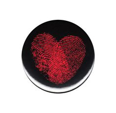 Fingerprint Heart Pinback Button Badge Pin 44mm Cute Pretty Love Finger Print