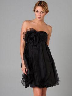 A-line/Stile Principessa Senza Spalline Corto / Mini Chiffon Dress