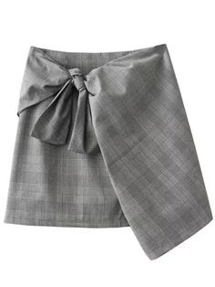 Shop Grey Plaid Zipper Skirt With Tie online. SheIn offers Grey Plaid Zipper Skirt With Tie & more to fit your fashionable needs.