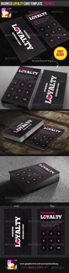 Business Loyalty Card Template Vol.3 - Loyalty Cards Cards & Invites