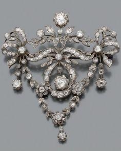 Diamond brooch, ca. 1910